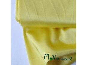 Jemný satén žlutý š.140cm/ 50 cm