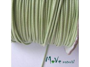 Šňůra voskovaná polyester pletená 1mm/3m, zelená