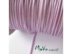 Šňůra voskovaná polyester pletená 1mm/3m, lila