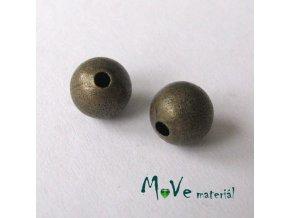 Korálek hladký kovový 10mm/2ks, staromosaz