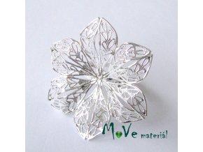 Prstýnek filigrán-květ 17mm, satříbrný 1ks