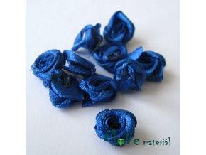 Růžička saténová zářivě modrá 12mm, 10kusy