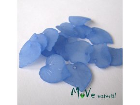 Akrylové transparentní lístečky, 15ks, modré