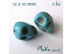 Tyrkenitová lebka 10x12mm, 2ks
