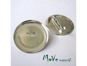 Brožový můstek s plíškem 36mm,platina, 1kus