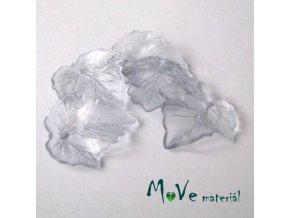 Akrylové transparentní lístečky, 5ks, sv. modré
