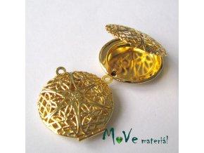 Medailónek kolečko filigrán 27mm1ks, zlaté