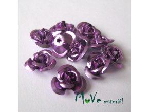 Korálek růžička 12mm, 10ks, fialová