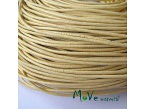 Kulatá přírodní kůže 1,5mm/1m, žlutá