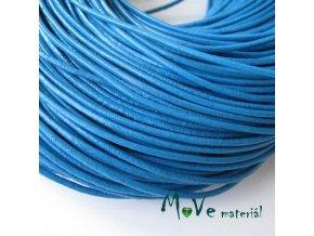 Kulatá přírodní kůže 1,5mm/1m, stř. modrá