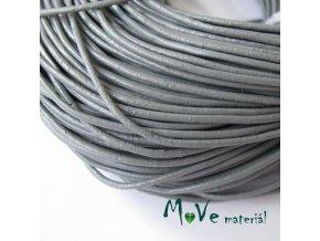 Kulatá přírodní kůže 1,5mm/1m, šedá
