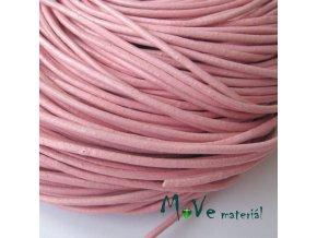 Kulatá přírodní kůže 2mm/1m, růžová