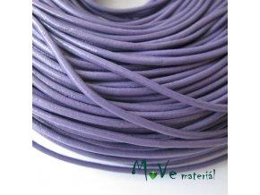 Kulatá přírodní kůže 2mm/1m, fialová