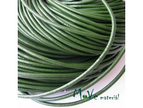 Kulatá přírodní kůže 2mm/1m, zelená