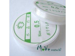 Vlasec silikon elastický 0,5mm návin 14m průhledný