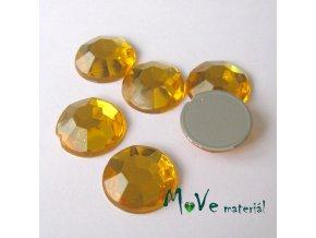 Plastový kabošon 12x3,6mm/6ks, žlutý