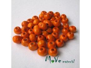 Dřevěný korálek 8mm, 7g, oranžový