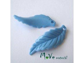 Akrylové lístečky zvlněné, 2ks, modré