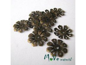 Kaplíky květ 20x2mm/10ks, staromosaz