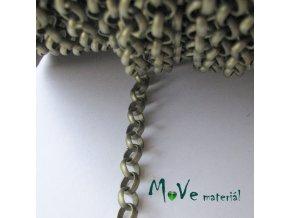 Řetízek kovový 7mm/1m, staromosazný