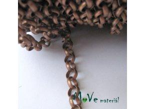 """Řetízek kovový """"MAXI"""" 7mm,1m, staroměděný"""