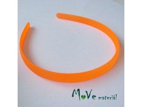 Čelenka jednoduchá plastová 13mm, neon. oranž.