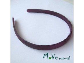 Čelenka jednoduchá plastová 13mm, tm. fialová