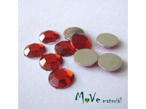 Plastový kabošon 8x2,5mm/10ks, červený