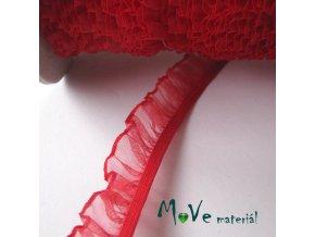 Pruženka s volánkem šíře 18mm, 1m, červená