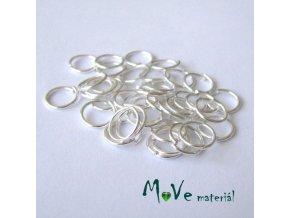 Spojovací kroužek průměr 8mm, 40ks, stříbrný