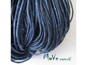 Šňůra voskovaná bavlněná 1mm, 3m, tm. modrá