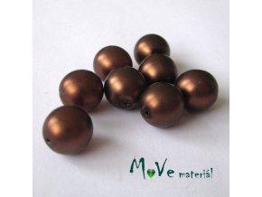 České voskové perle12mm 8ks (cca 20g), hnědé