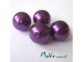 České voskové perle 16mm, 4ks, fialové