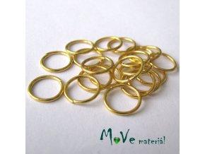 Spojovací kroužek průměr 10mm, 20ks, zlatý