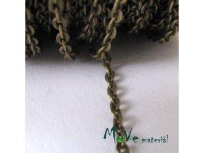 Řetízek kovový - délka 1m, staromosaz