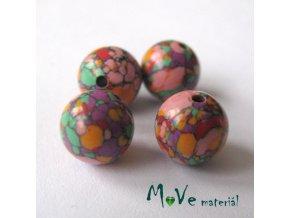 Korálky Marble 8mm 4ks, barevné