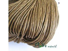 Šňůra voskovaná bavlněná 1mm, 3m, oříšková
