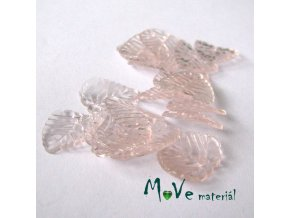 Akrylové transparentní lístečky, 20ks, broskvová