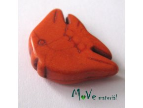 Tyrkenitová ryba 20x29x7mm, 1ks, oranžová