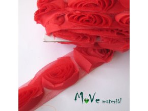 Prýmek na monofilu 50mm, 0,5m, červený