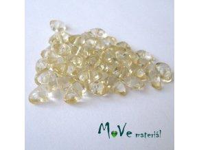 Plastové zlomky transparentní 6x8mm, 5g, žluté