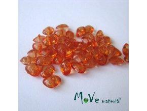 Plastové zlomky transparentní 6x8mm, 5g, oranžové