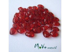 Plastové zlomky transparentní 6x8mm, 5g, červené