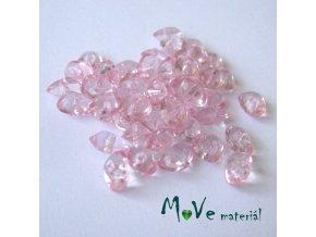 Plastové zlomky transparentní 6x8mm, 5g, sv. růžové