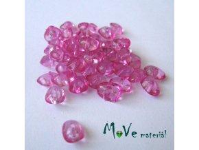 Plastové zlomky transparentní 6x8mm, 5g, tm. růžové