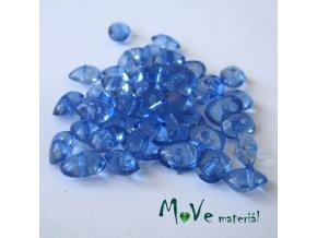 Plastové zlomky transparentní 6x8mm, 5g, modré