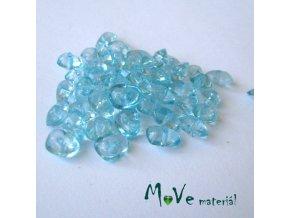 Plastové zlomky transparentní 6x8mm, 5g, tyrkysové