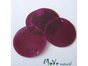 Perleťové penízky 30mm, 4ks, fialové
