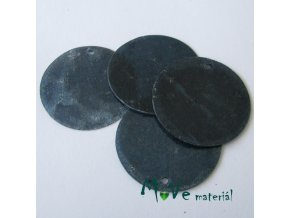 Perleťové penízky 30mm, 4ks, modré