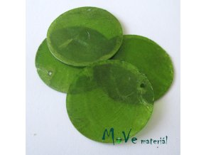 Perleťové penízky 30mm, 4ks, zelené